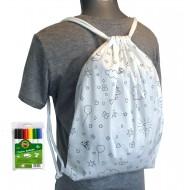 Dječji ruksak bojanka + flomasteri